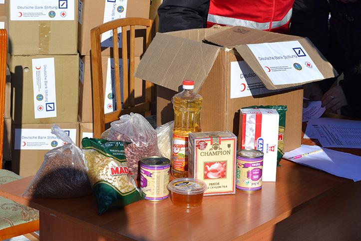 Kältewelle in Kirgistan: Inhalt eines Nahrungsmittelpakets
