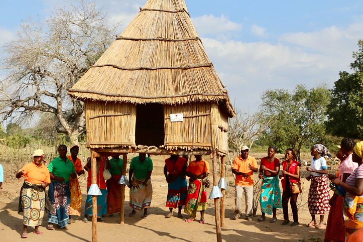 Foto: Ein Kornspeicher in Mosambik