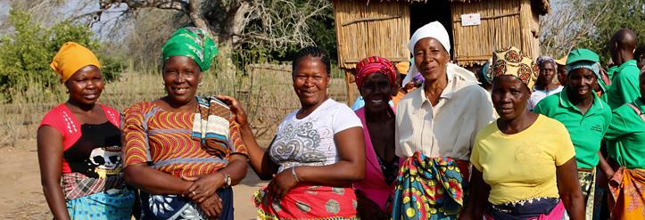 Ernährungssicherheit in Gogote: lächelnde Frauen