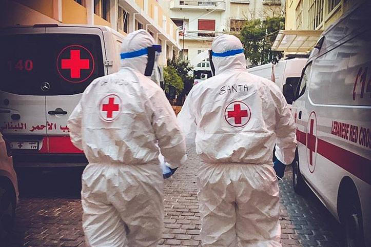 Foto: Sanitäter des Libanesischen Roten Kreuzes