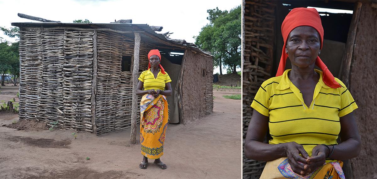 Foto: Betroffene von Idai vor ihrem Haus