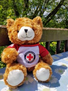 farewell gift: red cross teddy bear
