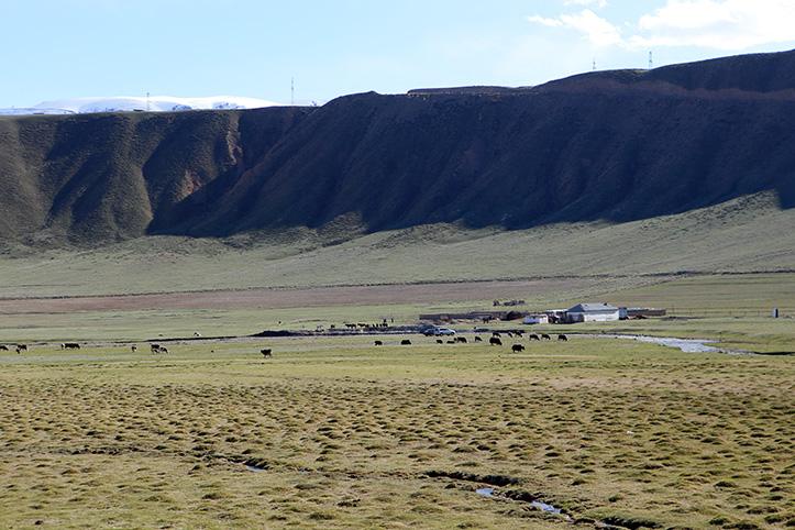 Foto: Landschaft und schönes Wetter in Kirgistan
