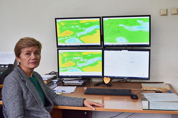 Foto: Portrait einer Meteorologin