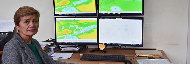Foto: Portriait einer Meteorologin