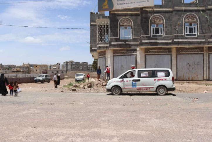 COVID-19 Aufklärung im Jemen: Krankenwagen mit Lautsprecher