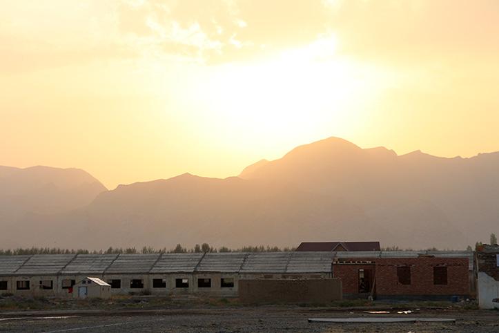 Katastrophenvorsorge in Kirgistan: Landschaft im Sommer
