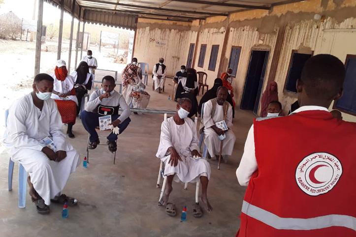 Covid-19 im Sudan: Hygieneschulung mit Gemeindevertretern
