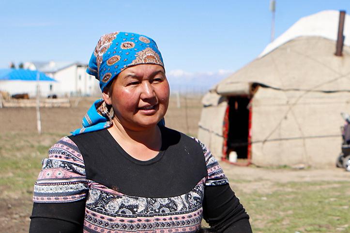 Portrait einer Kirgisin