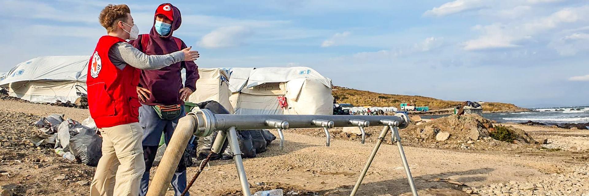 Einsatz auf Lesbos - Wasserversorgung für das Flüchtlingslager Kara Tepe
