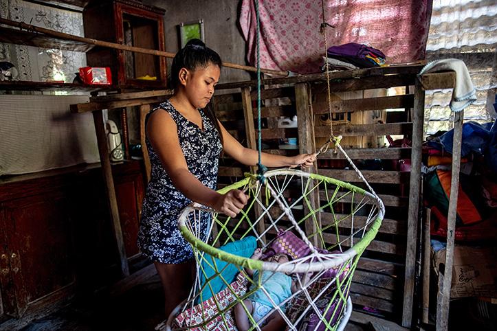 Leben nach Taifun Goni
