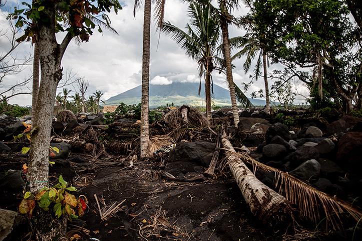 Beschädigte Landschaft auf den Philippinen