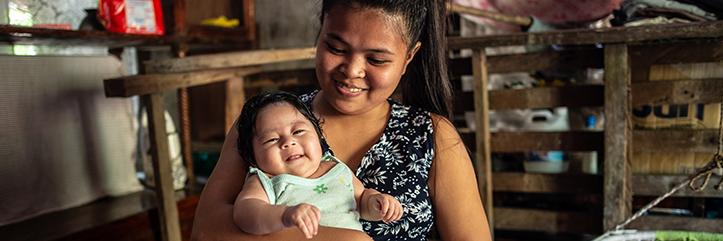 Leben nach Taifun Goni auf den Philippinen