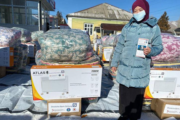 vorausschauende humanitäre Hilfe Kirgistan: Hilfsempfängerin