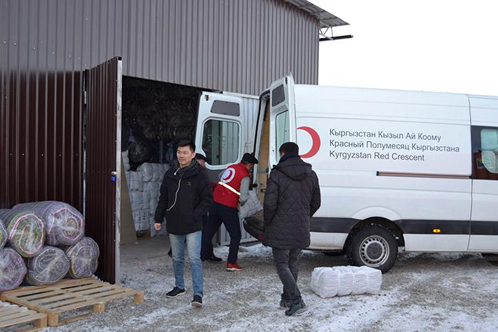 Vorausschauende humanitäre Hilfe Kirgistan: neues Lagerhaus