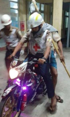 Rettung per Motorrad