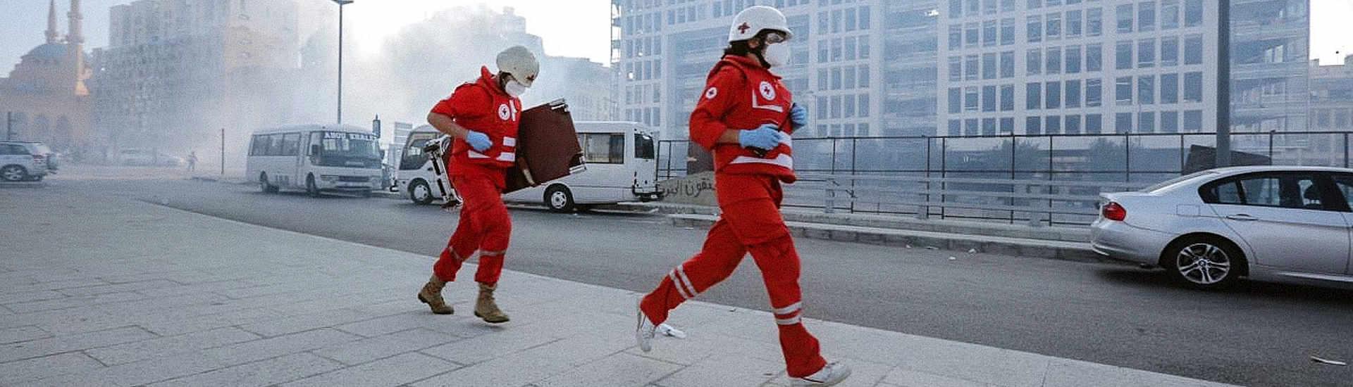 Mitarbeitende des Libanesischen Roten Kreuzes. Copyright: Libanesisches Rotes Kreuz